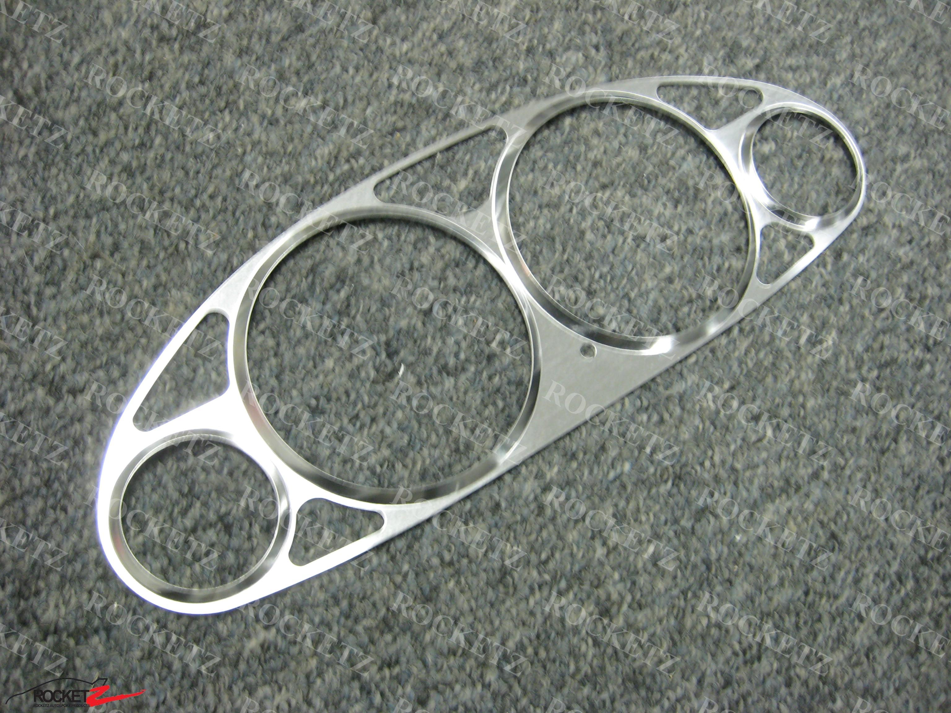 97-01 Honda Prelude Gauges Aluminum Bezel Frame Dash Trim USA CANADA Aluminium