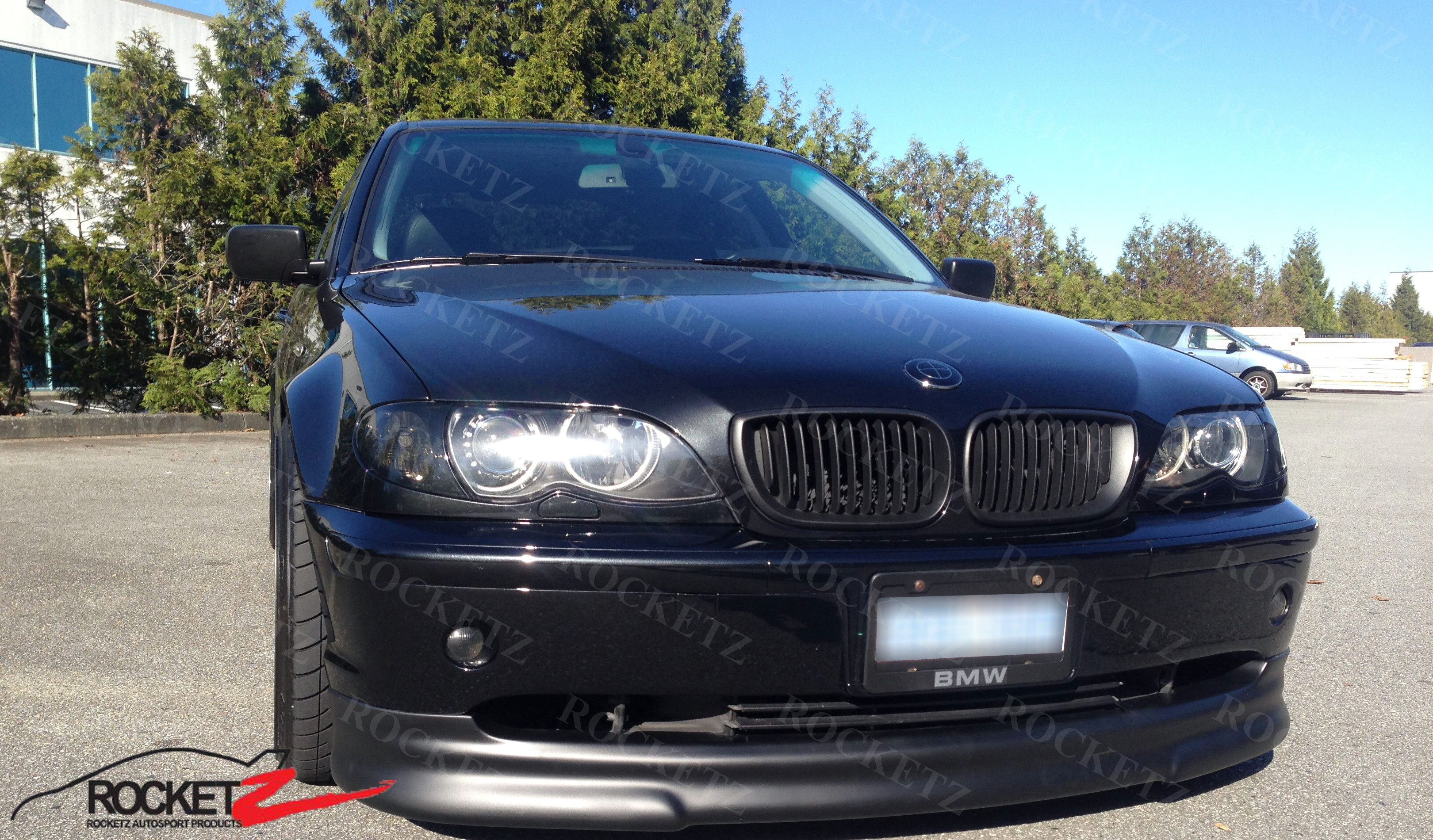 Details About 03 05 Bmw E46 Euro Hm Style Front Lip Facelift 4dr Sedan Usa Canada