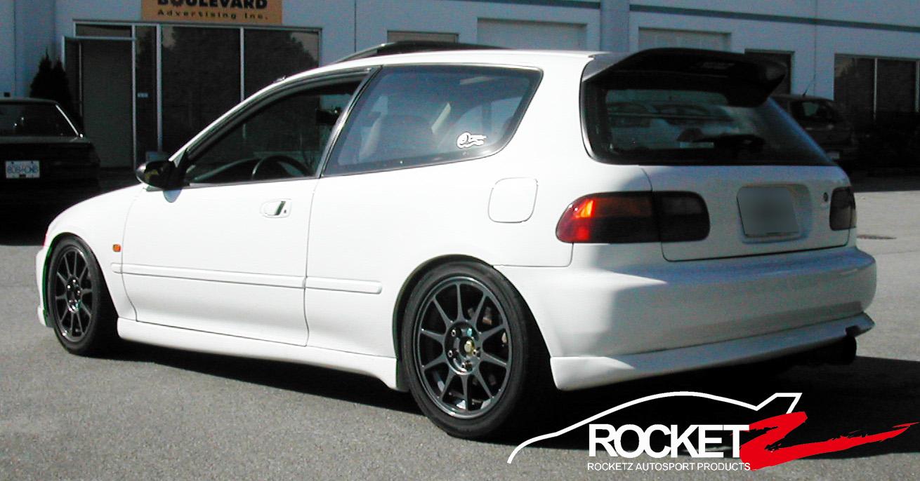 92 95 Honda Civic Hatchback Mugen Ww Style Side Skirts Jdm