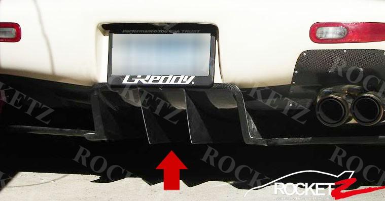 FRP Bottom Spoiler For 92-97 Mazda RX7 FD3S RE-AMEMIYA Old Ver Rear Diffuser